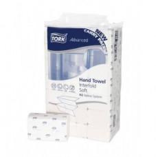 100288 Tork Premium полотенца сложения Interfold мягкие, 4-х панельные, система H2