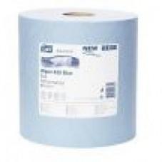 Протирочная бумага Tork Advanced 420 в больших рулонах, система W1, синий 130051