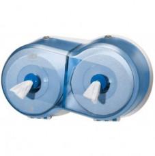472027 Tork SmartOne® двойной диспенсер для туалетной бумаги в мини рулонах синий