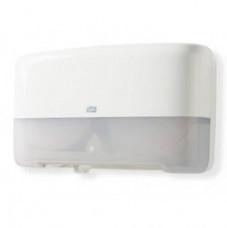 Диспенсер на 2 мини-рулона туалетной бумаги Tork Elevation Mini Twin T2, белый, 555500