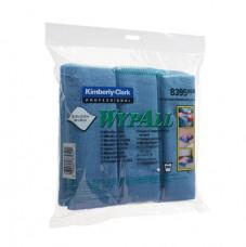 8395 Протирочные салфетки из микрофибры Wypall® Microfibre Cloth голубая