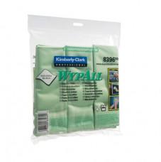 8396 Протирочные салфетки из микрофибры Wypall® Microfibre Cloth зеленая,для стекла и зеркал