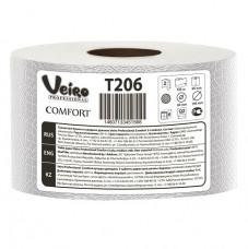 T206 Туалетная бумага в больших рулонах Veiro Professional Comfort